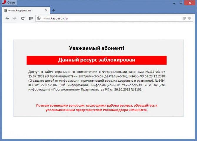 Операторов связи посоветовали облагать штрафом за«пропаганду» обхода блокировок интернет-ресурсов