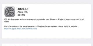 Вышла iOS 9.3.5