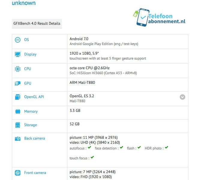 Huawei Mate 9 замечен вGFXBench