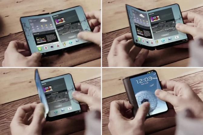 1-ый складной смартфон от Самсунг появится уже в следующем 2017г.