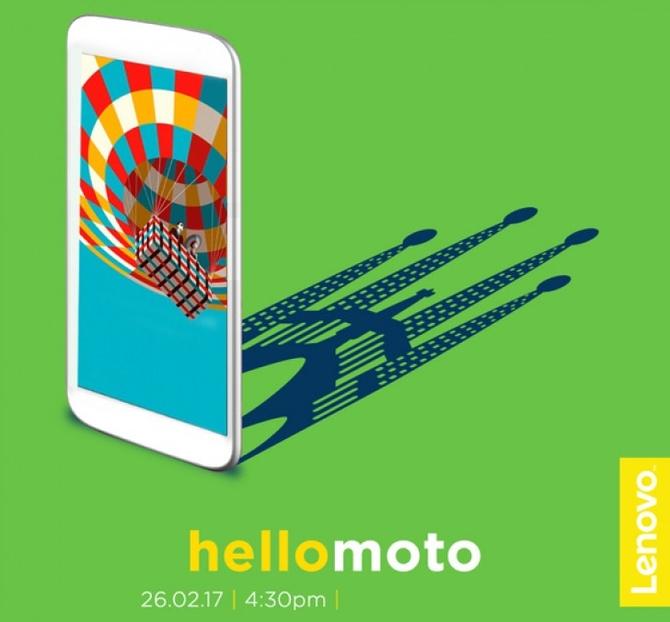 Новый смартфон Moto будет анонсирован 26февраля