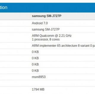 Samsung Galaxy J7 (2017) протестирован в Geekbench
