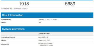 Xiaomi MIX EVO базируется на Snapdragon 835