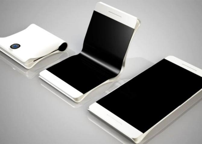 1-ый гибкий смартфон Самсунг выйдет уже втекущем году