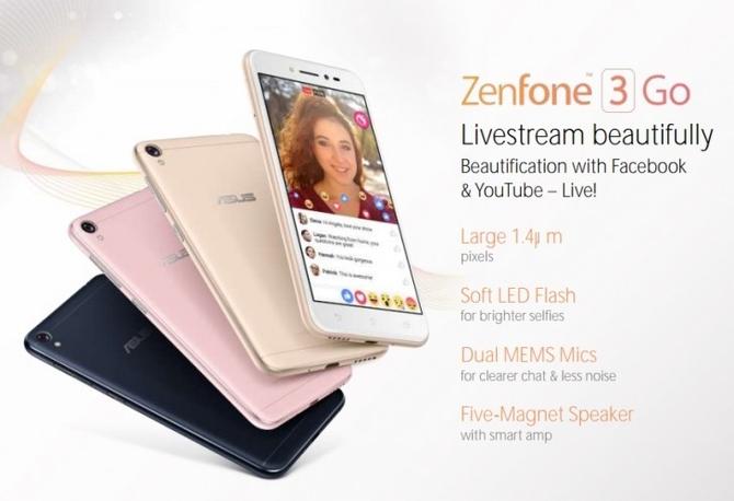 Фото ихарактеристики недорогого Asus Zenfone 3 Go— Утечка