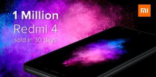 Xiaomi продала более 1 млн Redmi 4 в Индии